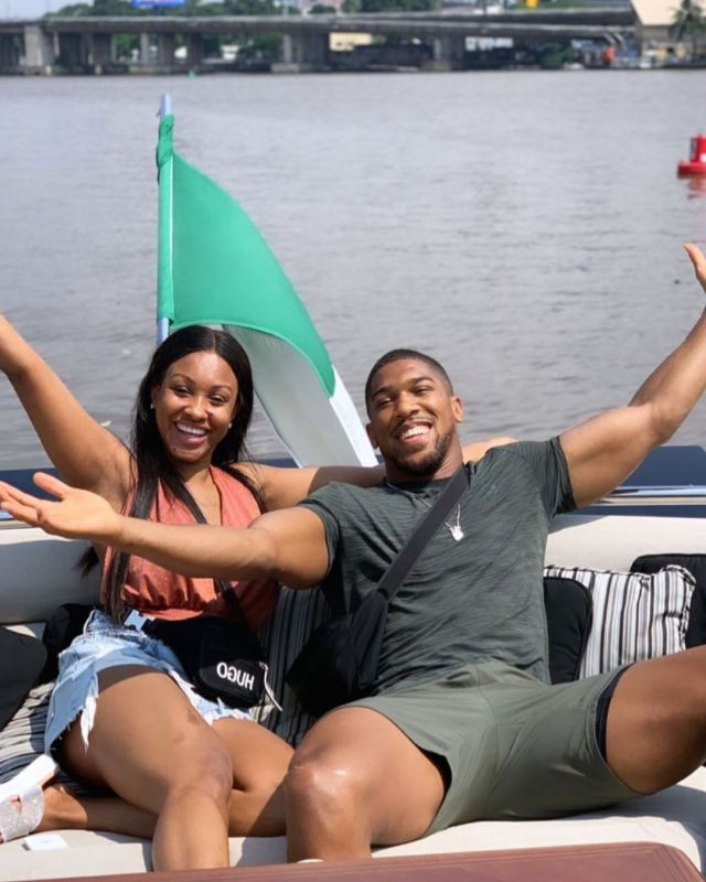 Anthony Joshua and his sister hosted by Dangote in his ?15.5Billion luxury yacht (Photos)