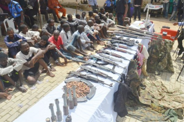 Police parade 13 suspects over kidnap of Buhari