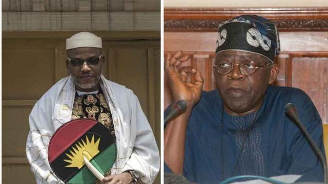 You have disappointed, disgraced the noble Yoruba ancestry - Nnamdi Kanu blasts Bola Tinubu