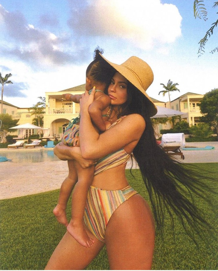 Kylie Jenner and daughter Stormi rock matching swimsuit while on vacation
