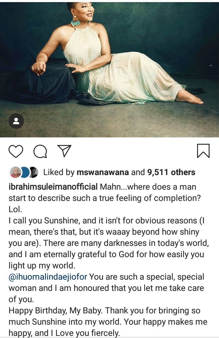 Ibrahim Suleiman celebrates wife Linda with the most beautiful words as she marks her birthday