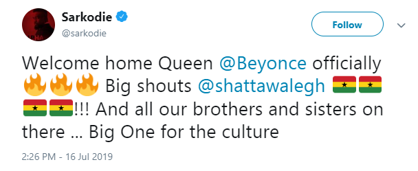 Sarkodie is a hypocrite ? Shatta Wale slams him after getting congratulated on Beyonce