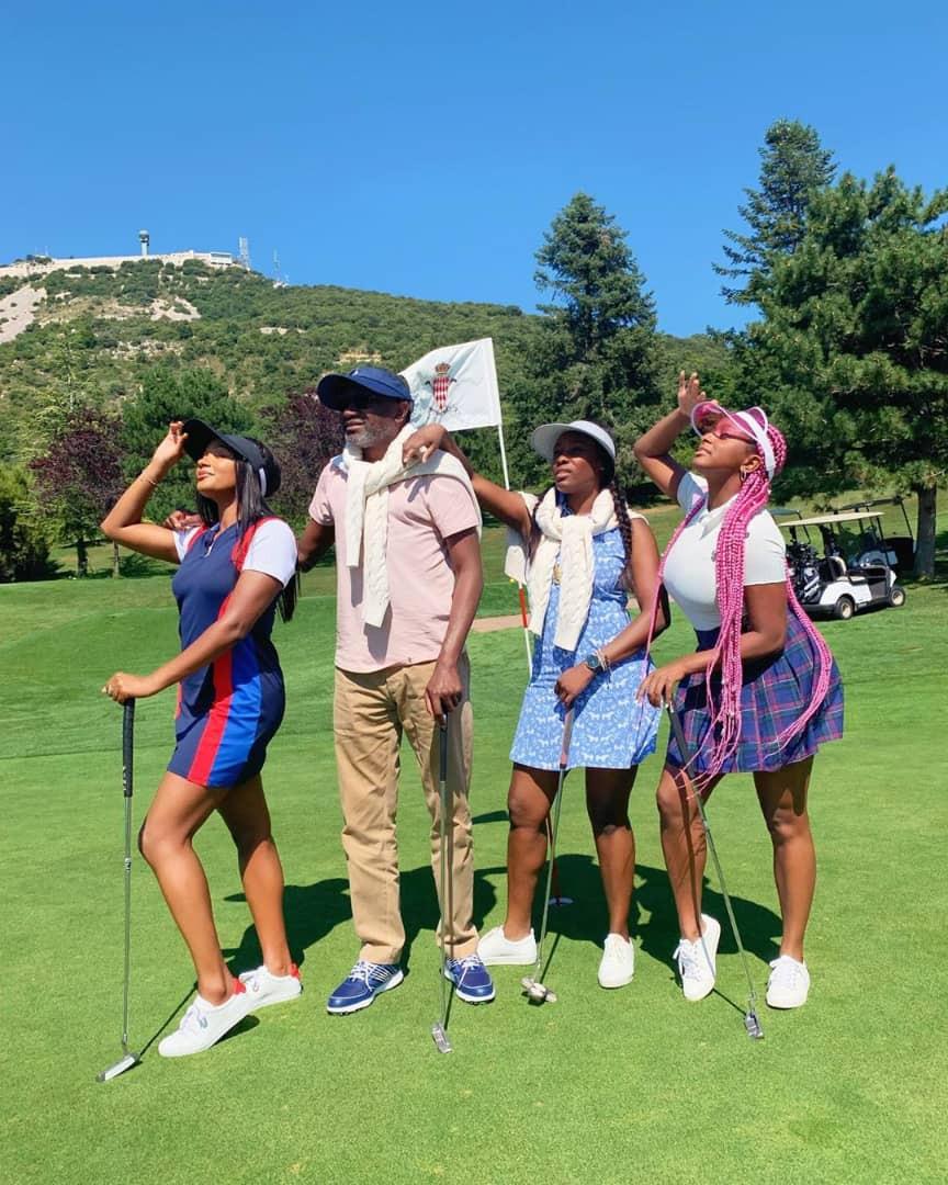 Photos: Billioanaire Femi Otedola and daughters vacation in Monaco