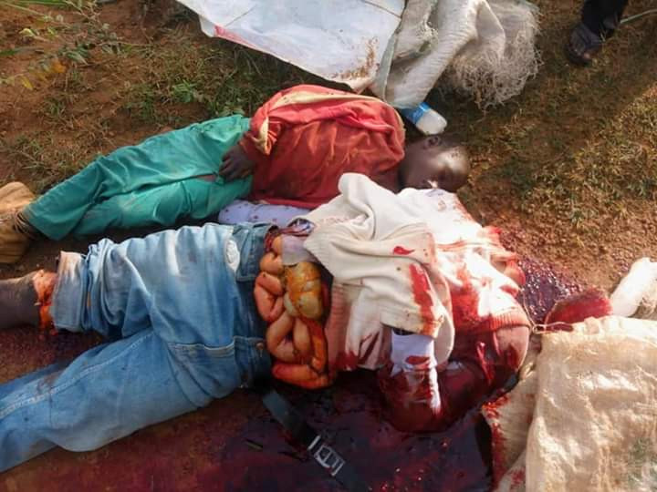 Graphic: Father, 7-year-old son beheaded, pregnant woman slaughtered by suspected Fulani herdsmen in Plateau state