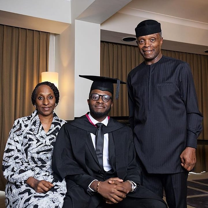 Photos: VP Yemi Osinbajo's Son Graduates From UK University