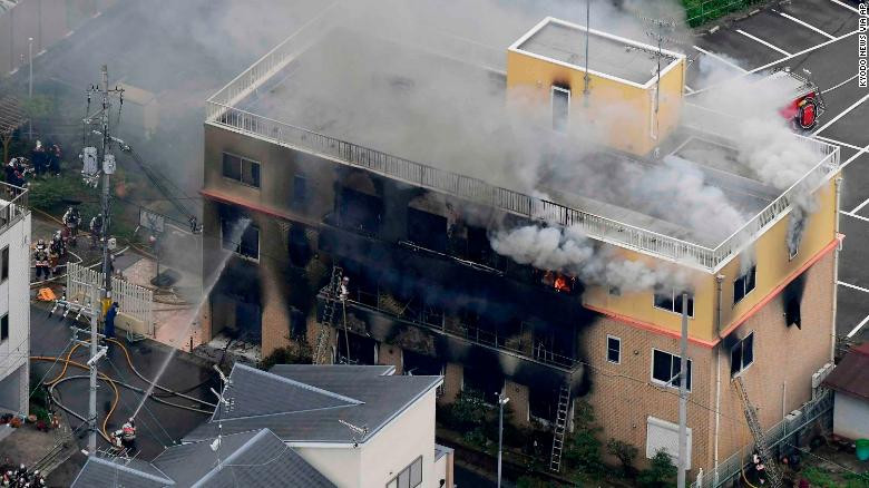 Kyoto Animation fire: Arson attack at Japan anime studio kills 33