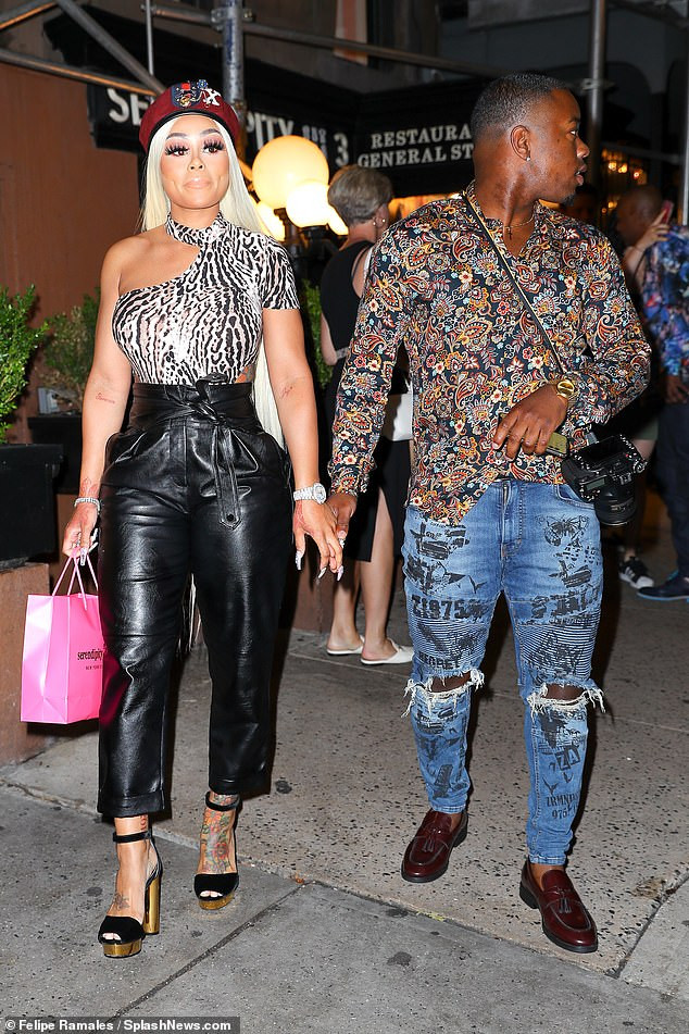 Blac Chyna steps out with mystery man for Wendy Williams