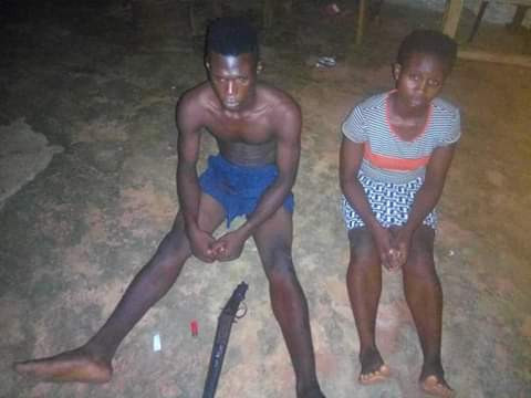 Photo: Police arrest notorious female armed robber terrorising Anambra community