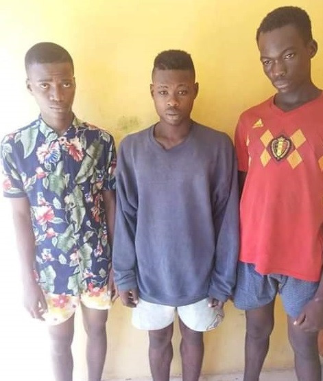 Photo: Anambra Police nab three suspected cultists who abducted, gang raped two young girls and forced them to undergo initiation rituals