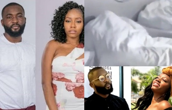 BBNaija: Khafi and Gedoni caught having sex