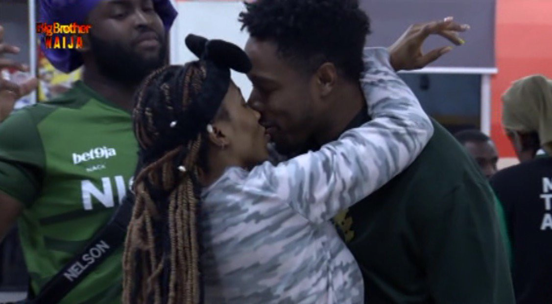 BBNaija: Mercy kisses her man Ike to celebrate his 27th birthday?(Video)