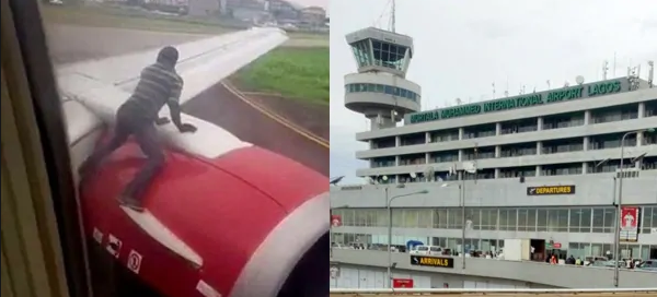 Identity of man who climbed aircraft at Lagos airport, revealed