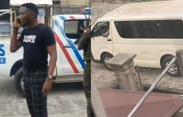 RRS officers stop armed policemen from taking Timi Dakolo and his wife, Busola to Abuja (video)