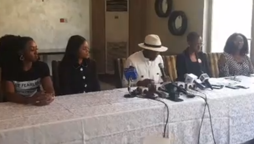 Photos: Timi Dakolo and wife Busola hold press conference in Lagos, reveals Busola told him about the rape incident for the first time last year