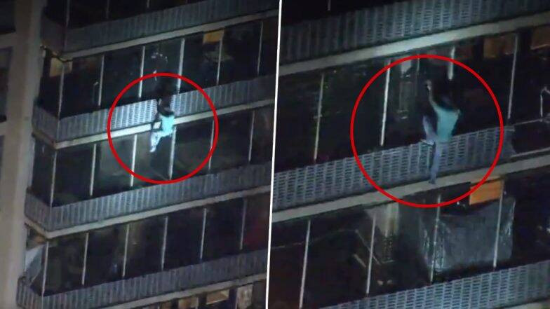 Man climbs 19-storey building to save his mother from fire