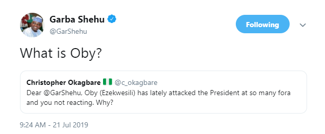 Garba Shehu mocks Ezekwesili, asks