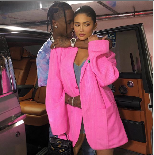 Kylie Jenner and her boo, Travis Scott all loved-up in new photo