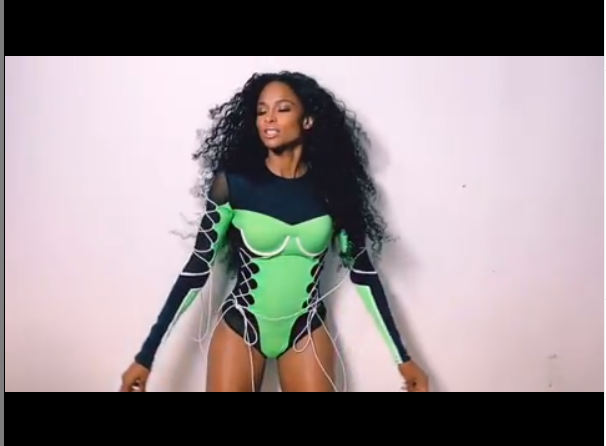 Singer, Ciara shows off her stunning body in sexy bodysuit (Photos)