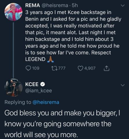 How Kcee motivated me with a backstage photo 3-years ago - Mavin act, Rema