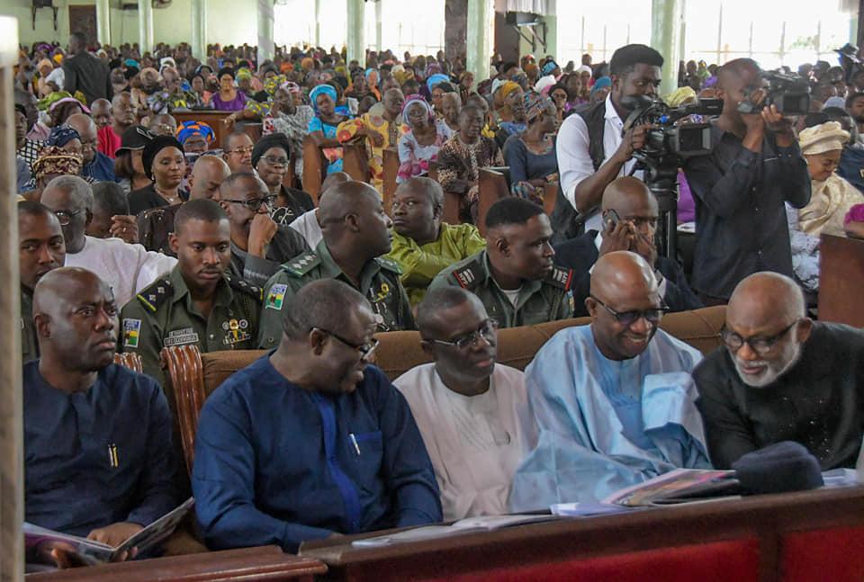Photos from the burial of Funke Olakunrin, daughter of Afenifere leader Pa Reuben Fasoranti