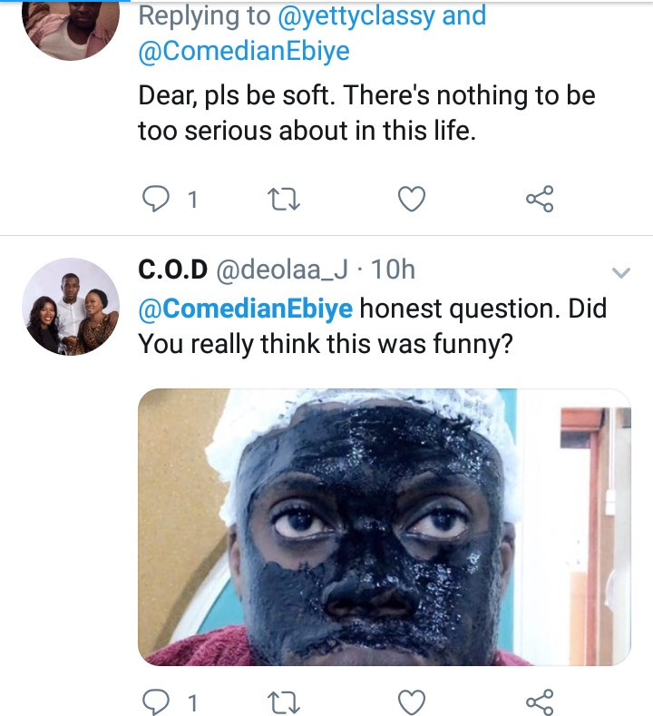 Comedian Ebiye dragged by Twitter users for color-shaming Lupita Nyong