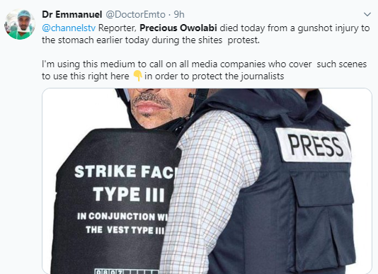 Nigerians react to the death of Channels reporter, Precious Owolabi