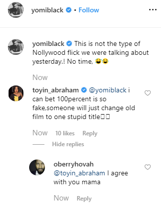 COZA: Toyin Abraham and Yomi Black react to