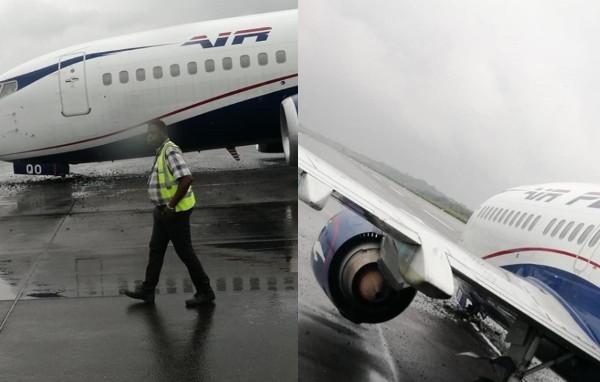 Crash averted as plane
