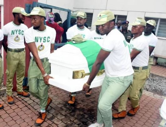 Photos: NYSC DG pays last respect as corpes?of Channels TV reporter, Precious Owolabi, leaves morgue to his parents in Zaria