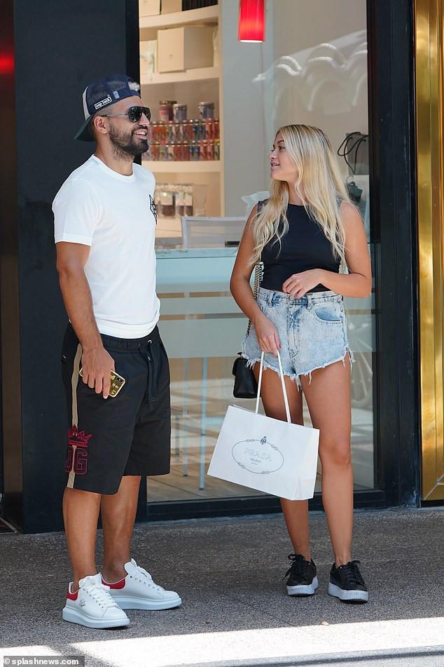 Manchester City striker, Sergio Aguero takes his girlfriend Sofia Calzetti shopping in a McLaren Spider ?(Photos)