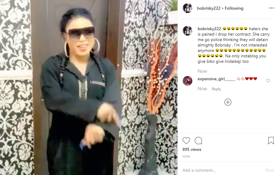 Bobrisky reacts to getting