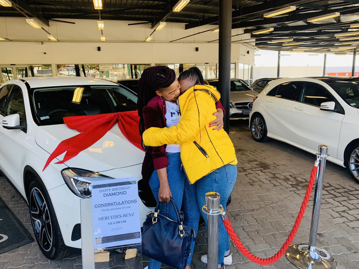 23-year-old Law student gets a Mercedes Benz from her Mother as birthday gift