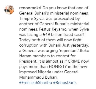 Reno Omokri tackles Buhari for nominating
