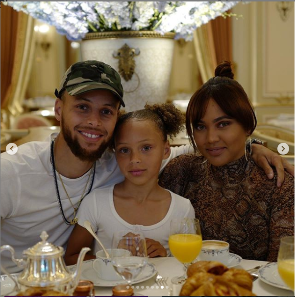 Stephen Curry and Ayesha Curry take her their daughter?to Eiffel Tower as they celebrate her 7th birthday (Photos)