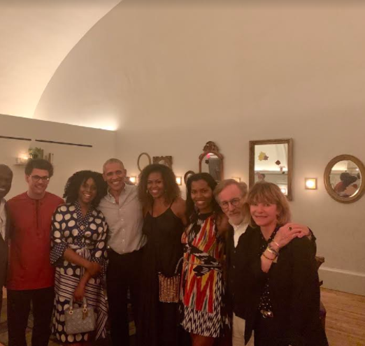 Chimamanda Adichie and husband Dr Esege dine with former US President Barack Obama & First Lady Michelle Obama