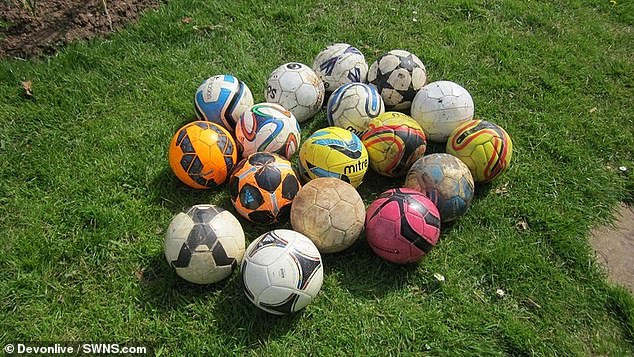 Landlady, 56, is fined and faces prosecution for theft for donating footballs kicked into her garden to charity (Photos)
