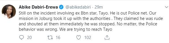 Abike Dabiri gives update on Tayo Faniran