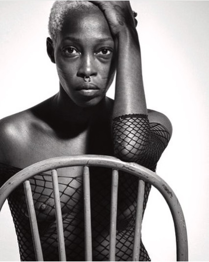 Nigerian model with tribal marks, Adetutu, releases more naked photos