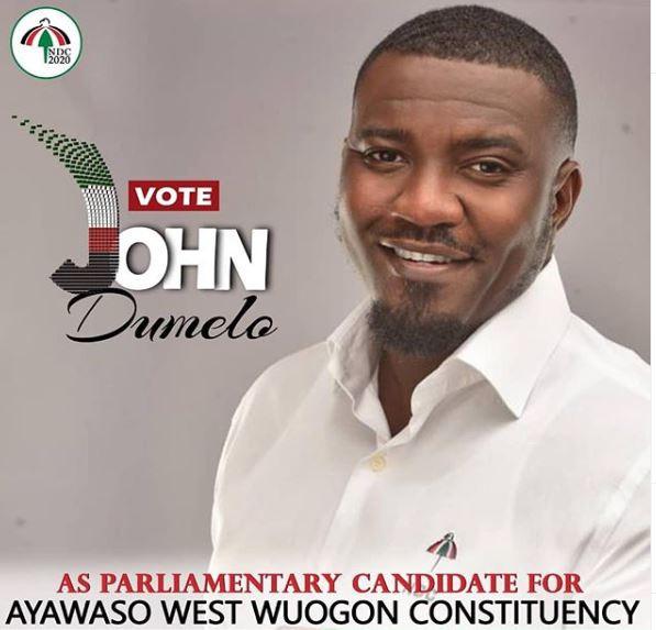 Ghanaian actor, John Dumelo goes into politics