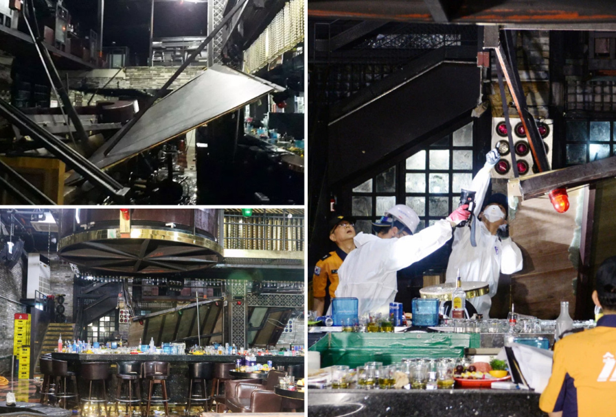 Two killed after nightclub balcony collapsed in Korea