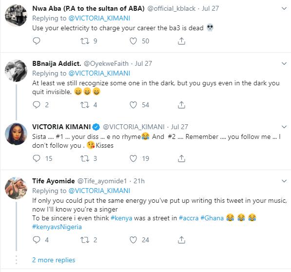 #KenyaVsNigeria: Victoria Kimani shades Nigerians