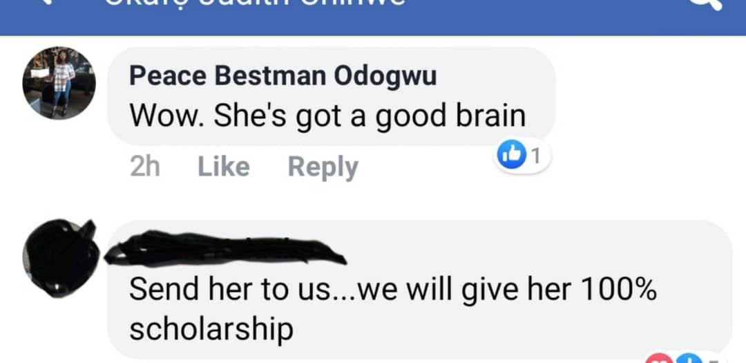 Nigerian man based in Korea offers 100% scholarship abroad to Imo born Ugboaja Chizobam Stephany who had 9As in WASSCE