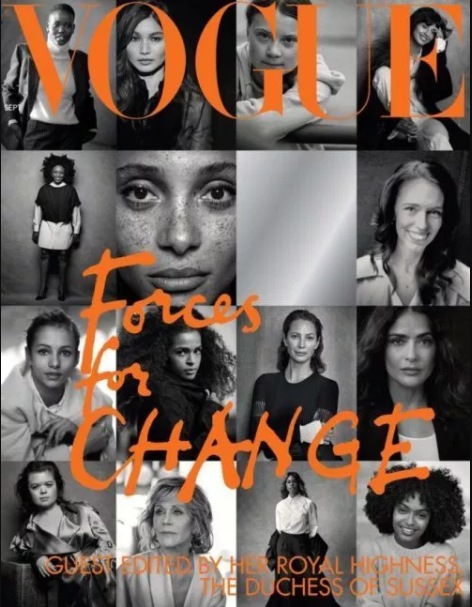 Chimamanda Adichie is one of 15 women considered ?Forces of Change? in Vogue special issue edited by Meghan Markle