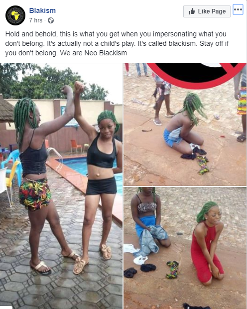 Girls stripped and humiliated for mimicking mode of greeting used by members of the Black Axe confraternity