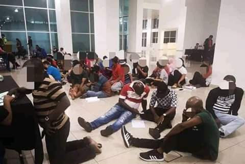 17 Nigerians, one Ugandan arrested in connection with attacks on police officers in Malaysia (photos)
