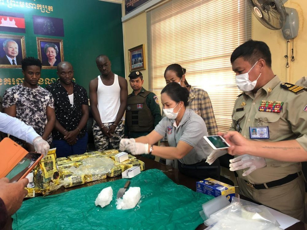 Photos: Three Nigerian men busted with 20kg of drugs in Cambodia