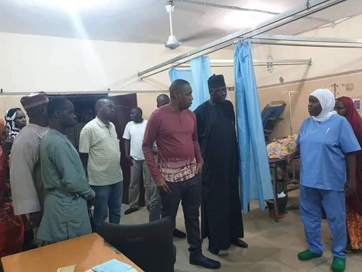 Borno doctors in trouble as Govenor visits hospitals, finds patients in pathetic condition, no doctor on duty