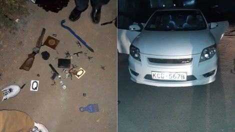 Photo: Police gun down two suspected armed robbers in Kenya after they robbed a Nigerian national