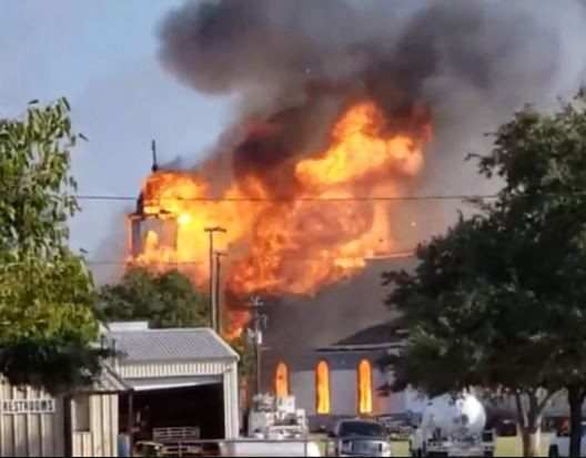125-year-old Roman Catholic church mysteriously burns to the ground