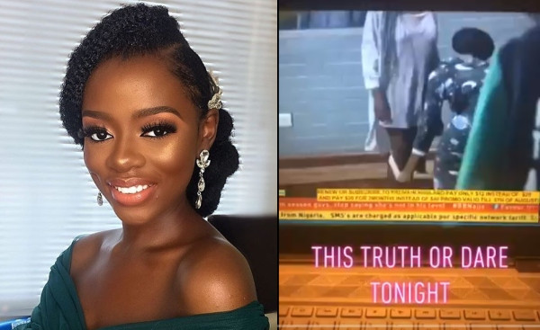 BBNaija: Diane removes her panties before other housemates (video)